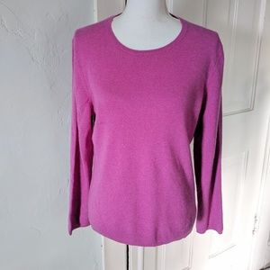 Charter Club 2Ply Cashmere Lg Berry Pink Sweater